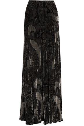 ETRO Devoré-velvet maxi skirt