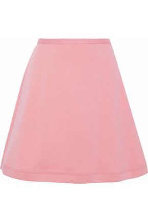 REDValentino Mélange cotton-blend jersey mini skirt