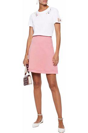40759ee145 REDValentino Mélange cotton-blend jersey mini skirt