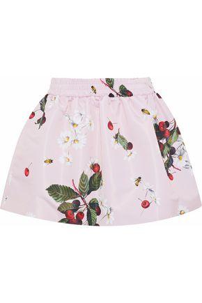 REDValentino Flared printed satin-faille mini skirt