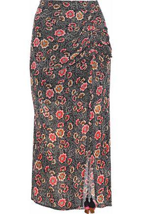 REBECCA MINKOFF Floral-print chiffon midi skirt