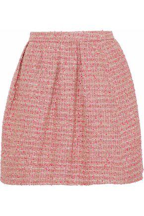 REDValentino Pleated tweed mini skirt