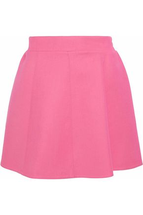 REDValentino Flared cotton-blend crepe mini skirt
