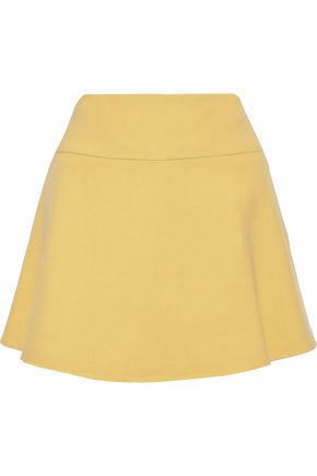REDValentino Fluted cotton-blend twill mini skirt