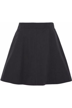 REDValentino Gathered cotton-blend mini skirt