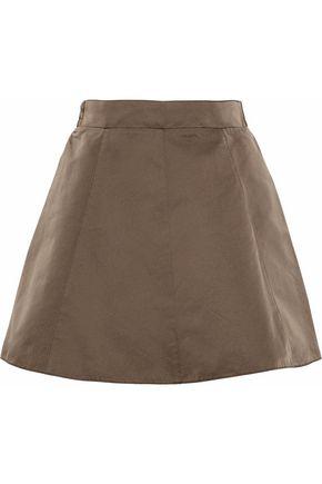 REDValentino Gathered satin mini skirt