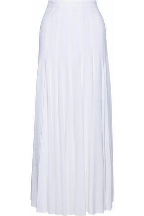 DEREK LAM Pleated crepe maxi skirt