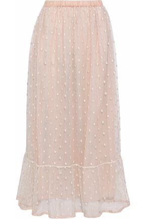 REDValentino Embroidered tulle maxi skirt