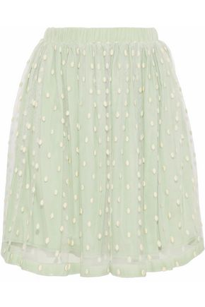 REDValentino Swiss-dot tulle skirt