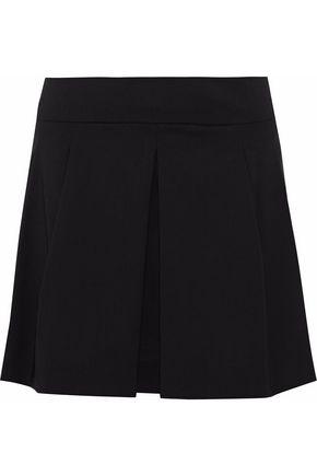 REDValentino Pleated stretch-woool mini skirt