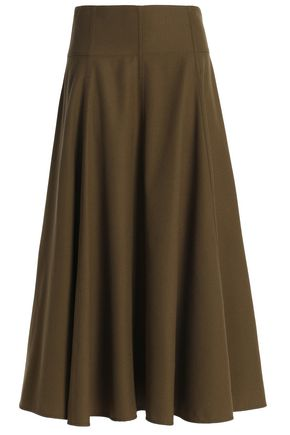JOSEPH Wool-twill midi skirt