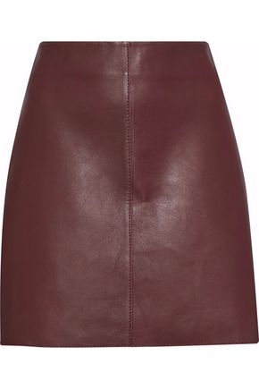 DIANE VON FURSTENBERG Jenny two-tone leather mini skirt