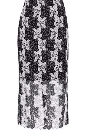 DIANE VON FURSTENBERG Two-tone guipure lace skirt