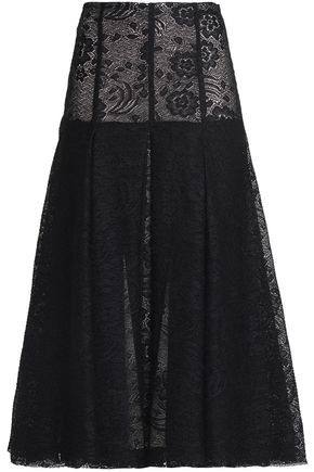 EMILIA WICKSTEAD Merica pleated lace midi skirt