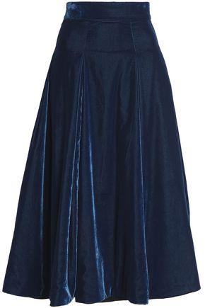 EMILIA WICKSTEAD Velvet midi skirt