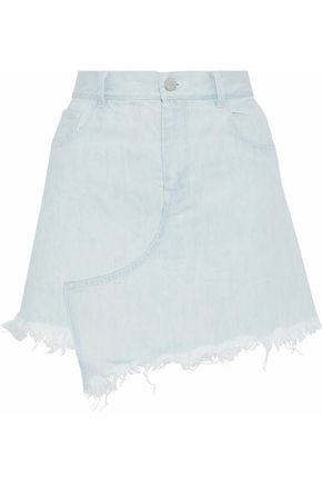 SANDY LIANG Crombie asymmetric frayed denim skirt