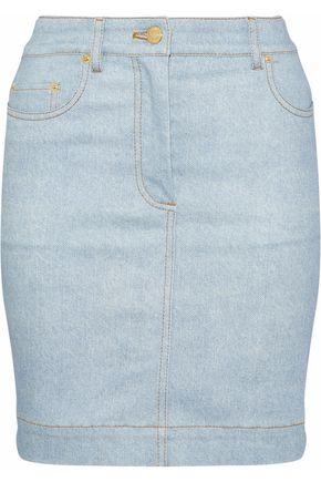 MOSCHINO Printed denim mini skirt