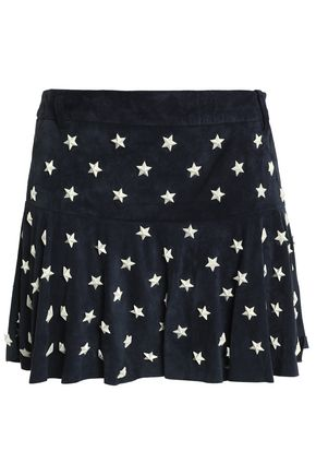 REDValentino Studded suede mini skirt
