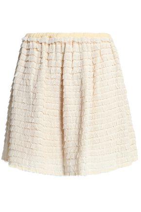 REDValentino Ruffled silk lace mini skirt