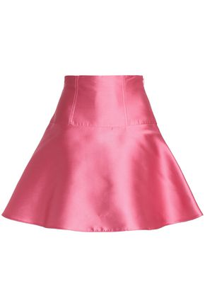 REDValentino Lace-up satin-twill mini skirt