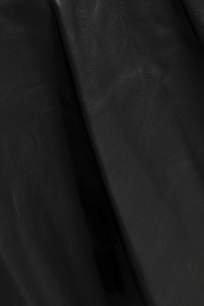 HELMUT LANG Ruffled leather wrap skirt