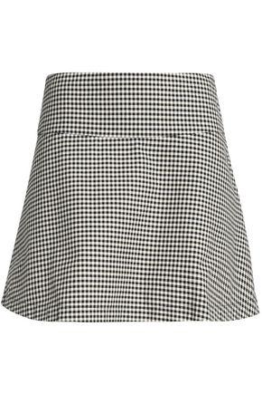 REDValentino Gingham cotton-twill mini skirt