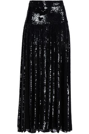 TEMPERLEY LONDON Sequin-embellished organza maxi skirt