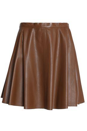 REDValentino Leather mini skirt