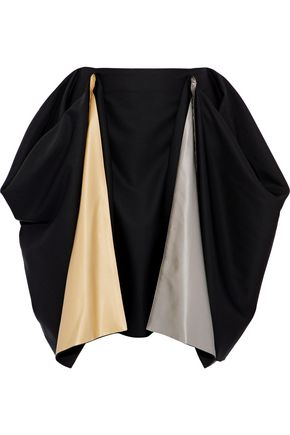J.W.ANDERSON Metallic satin-paneled wool-twill skirt