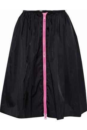 PRADA Zip-detailed gathered shell skirt