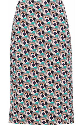 PRADA Cloqué-jacquard pencil skirt