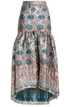 TEMPERLEY LONDON Fluted brocade maxi skirt
