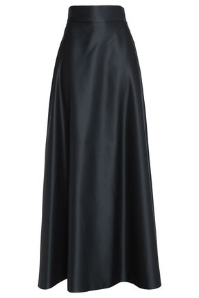 TEMPERLEY LONDON Flared satin maxi skirt