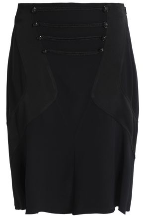 ROBERTO CAVALLI Satin-crepe flared skirt