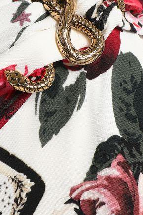 28abc77998 ... ROBERTO CAVALLI Wrap-effect floral-print stretch-jersey maxi skirt ...