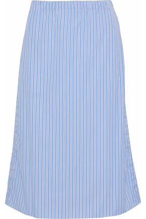 MARNI Striped cotton-poplin skirt