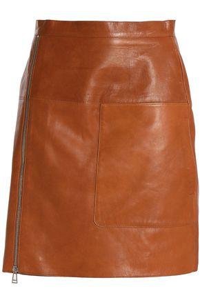 BELSTAFF Zip-detailed leather mini skirt