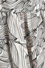 ISOLDA Gathered printed linen midi skirt