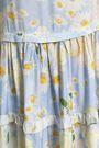 ISOLDA Gathered floral-print crepe midi skirt