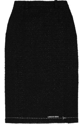 VETEMENTS Metallic bouclé-tweed skirt