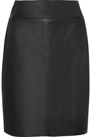 VEDA Leather mini skirt