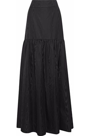 TEMPERLEY LONDON Gathered silk-moire maxi skirt
