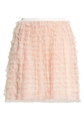 REDValentino Tiered point d'esprit mini skirt