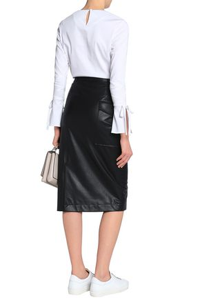 JOSEPH Faux leather skirt