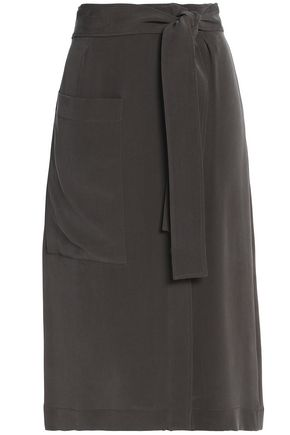 JOSEPH Silk crepe de chine skirt