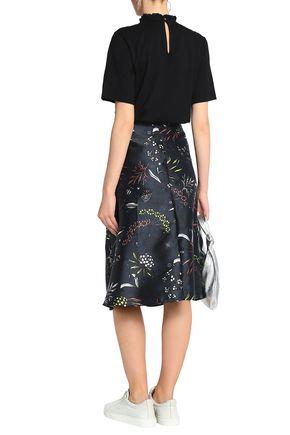 MARKUS LUPFER Printed twill midi skirt