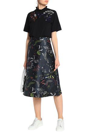 MARKUS LUPFER Floral-print twill skirt