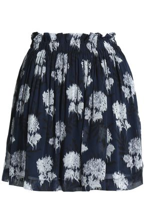 GANNI Floral-print georgette mini skirt