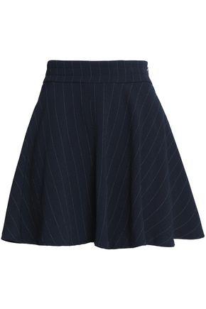 GANNI Pinstriped crepe mini skirt