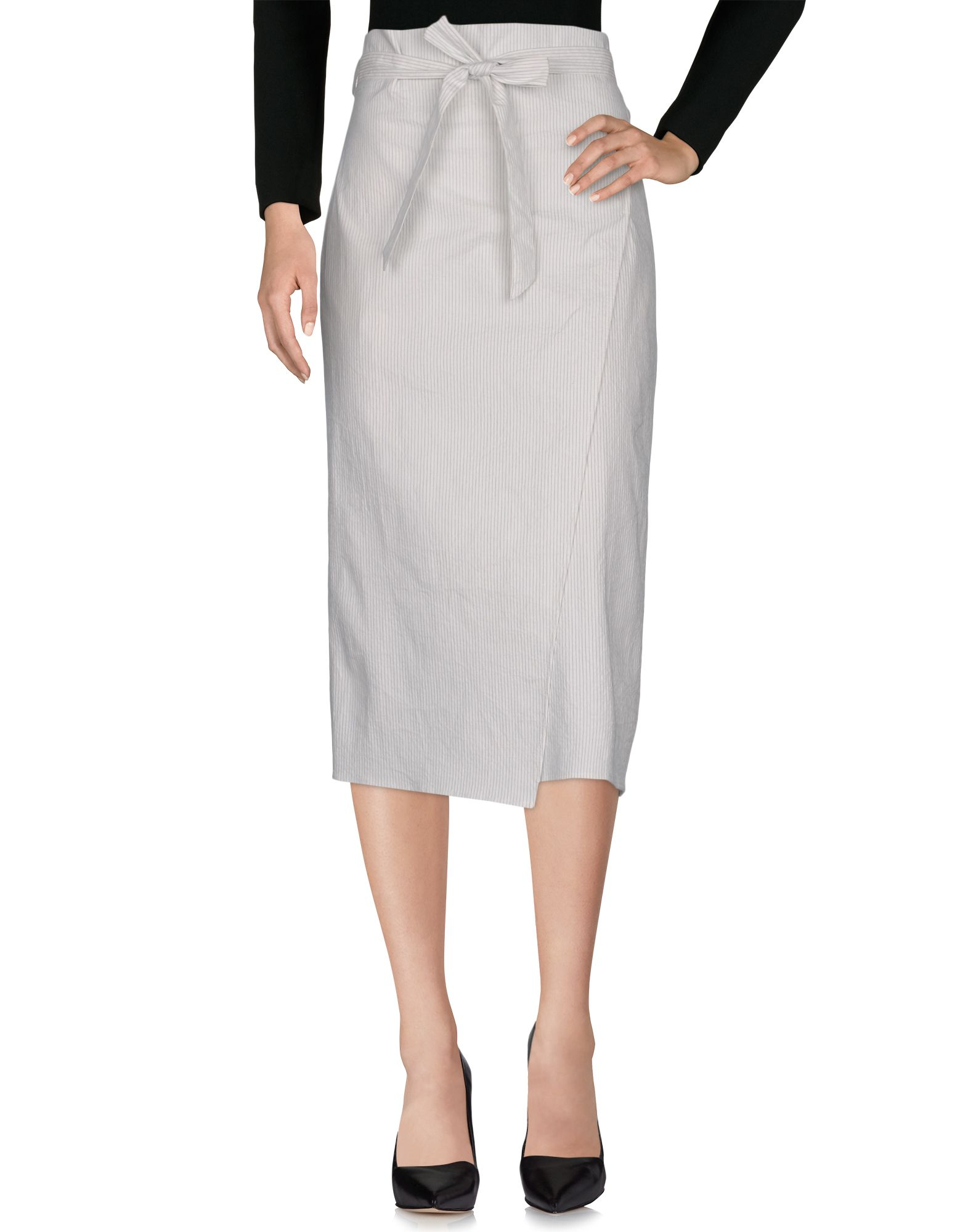 OPPORTUNO Midi Skirts in White